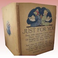 "Children's Book ""Just For You"" 1918"