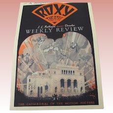 Roxy Theatre Review 1929