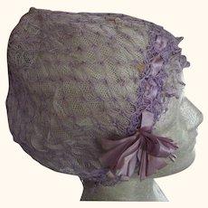 Lavender Flapper Sleep Cap