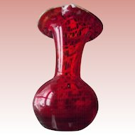 Small Red Vase
