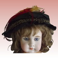 Vintage Doll Hat With Bird