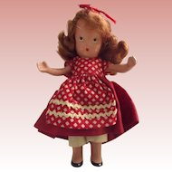 Storybook Bisque Doll In Red