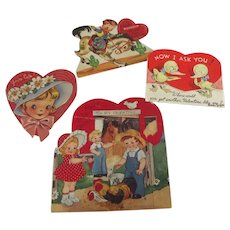 Valentine Cards 40's and 50's