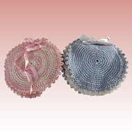 Pair of Crocheted Pincushions