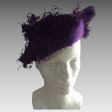 Purple Hat With Feather