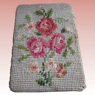 Needle Work Door Stop With Flowers