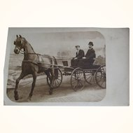 Men In Horse Drawn Carriage
