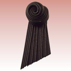 Black Art Deco Dress Clip
