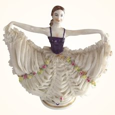 Dresden Lace Lady With Outstretched Arms