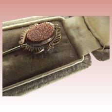 Goldstone Stickpin In original Box