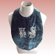 Early Silk Velvet Bib  or Collar