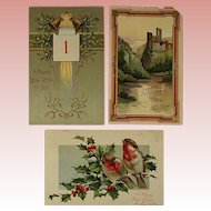 New Years Post Cards
