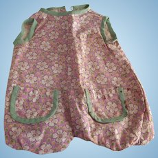 Lavender Print Sun Suit For Doll
