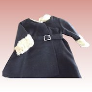 Wool Fur Trimmed Coat 40's or 50's