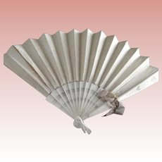 Large Silk Victorian Wedding Fan As Is