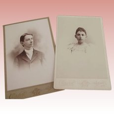 Cabinet Cards, Brother and Sister ID on back.  Barre VT.