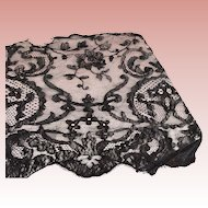 Early Wide  Black Lace  Piece For Trim