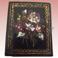 Mother Of Pearl Inlaid Ambrotype Case With Child and Doll