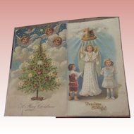 Early Christmas Postcards With Children