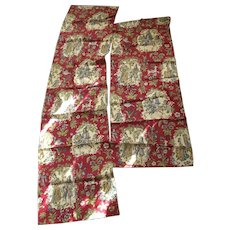 Two Cotton Print Curtain Panels - Red Tag Sale Item