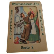 Mannekin Pis Post Card Packet - Red Tag Sale Item