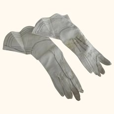 White Gauntlet Gloves