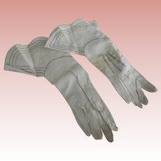 White Gauntlet Gloves