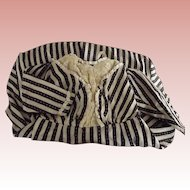 Period Black and White Striped Dress
