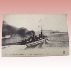 "French War Ship Post Card ""L'Arc"""