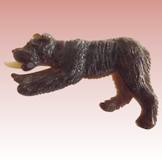 Bear Pin With Articulated  Tongue