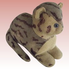 Early Stuffed English Cat Lying Down