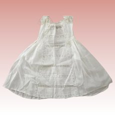 Civil War Child or Doll Dress Embroidery, Lace and Tucks