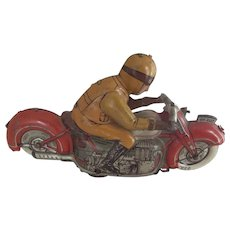 Georg Fisher 1940's Man On Motorcycle Wind-Up Toy