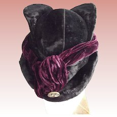 Edwardian Velvet Hat