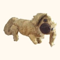 Early Straw Stuffed Large Pekinsese Dog