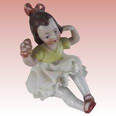 Tiny Dresden China Child