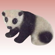 German Flocked Handwork Panda Bear
