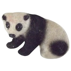 German Flocked Handwork Panda Bear