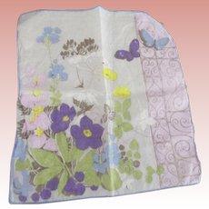 Five Vintage Floral Handerkerchiefs