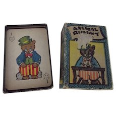 Animal Rummy Game Early Version In original Box With Instructions