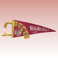 Niagara Falls Pennant From 1946