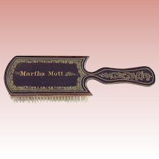 Victorian/Edwardian Wood Personalized Hair Brush