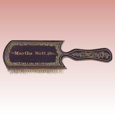 Victorian/Edwardian Wood Personalized Hair Brush