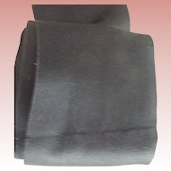 Wide Soft Satin Black Ribbon For Doll Bonnets, dress Trim