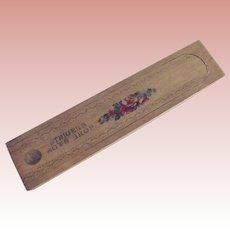 "Wood Pencil Box ""Steiger's Boys' Shop"""