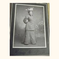 Victorian Lady With Fancy Hat Cabinet Card