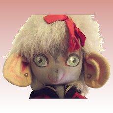 Felt Mouse Doll All Original Circa 1950