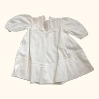 Baby Dress With Tiny Tucks and Lace, Good For Large Doll