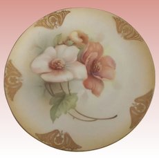 Four Art Nouveau  R.S. Germany Small Plates With Dogwood Flowers