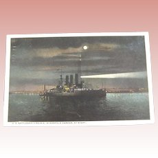 Night Scene of The U.S. Battleship Virginia
